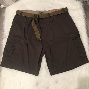 The Foundry Supply Co Brown Belted Cargo Shorts